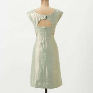 Maeve Mentha Dress Mint Tweed with Gold Glimmer